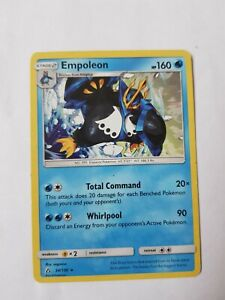 Empoleon Pokemon trading card 34/156