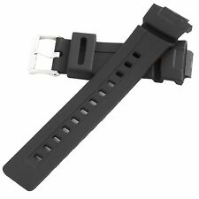 Hadley-Roma Men's Rubber Dive Watch Band Strap Black 16mm MS3212