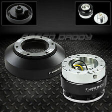 NRG STEERING WHEEL SHORT HUB+1.0 BLACK QUICK RELEASE FOR 03-16 350Z/370Z/G35/G37