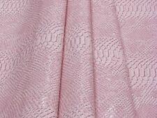 New! Tessuto Ecopelle Tappezzeria Komodo Rosa mt. 0.50x1.40-Leather Fabric