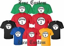 Drunk 1 Drunk 2 T Shirt Drinking Party Bar Tee Beer ALL SIZES customized names