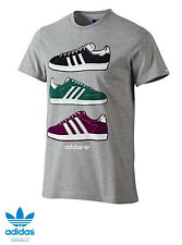 Adidas Originals G Sneaker T-Shirt Herren Superstar Gazelle Mens NEU grau SALE