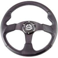 345mm Vinyl Steering Wheel Black Anodised Aluminium