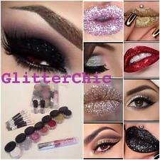 Glitter Occhi e Labbra COMBO Trucco Set, 7 colori caldi,2 x FIX gel + Lip COLLA