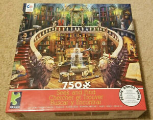Ceaco Seek And Find Library Scene 750 Piece Puzzle