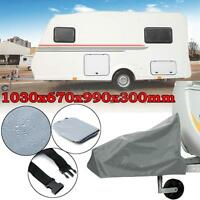 Universal Caravan Tailer Tow Towing Hitch Cover Rain Snow Dust Waterproof Nylon