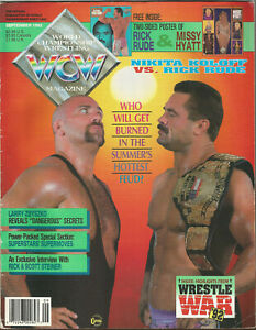 WCW Magazine September 1992 Rick Rude Cover (Poster is missing)