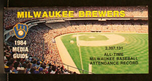 1984 Milwaukee Brewers Official Media Press Guide, 80 Pages of Facts & Fun!
