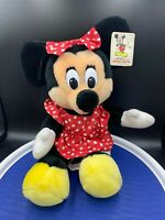 Vintage Disney Minnie Mouse plush Walt Disney 8 inch red polka dot dress w/tags