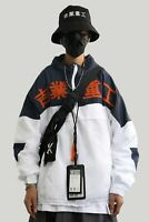 Niepce 11 Blue/Orange Windbreaker Asian Hip Hop Urban Streetwear Jacket