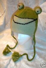 FROG HAT knit ADULT animal ski cap costume LINED mens womens unisex beanie toque