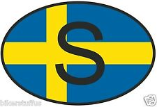 S SWEDEN COUNTRY CODE OVAL WITH FLAG STICKER LAPTOP STICKER TOOLBOX STICKER