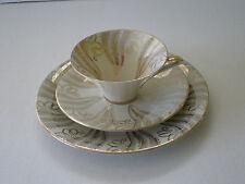 VINTAGE GERMAN GOLD ACCENTED PORCELAIN TEA SET / OSCAR SCHALLER & CO GERMANY