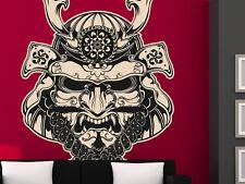 "Samurai Mask Vinyl Wall Decal Graphics 9""x12"" Home Decor"