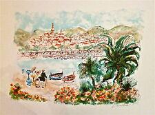 Urbain Huchet Lithographie paysage Côte d'Azur New York Paris Egypt p 506