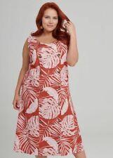 ts Taking Shape Dress Size 22 Tonal Palm Style  NWT