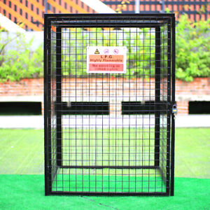 Security Gas Bottle Cage Cylinder Storage 4 x 47kg Propane Cages 1400x1000x1000