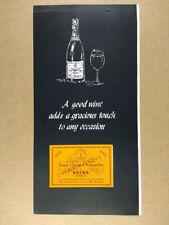 1953 Veuve Clicquot Ponsardin Champagne vintage print Ad