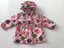 Baby Girls Showerproof 1 Y Pink Floral Coat Jacket French Designer ABSORBA 12 M