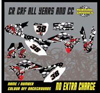 HONDA CR CRF 85 125 150 250 450 Graphics Kit Sticker Kit Decals honda reaper