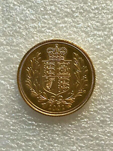 2002 SHIELD BACK UNCIRCULATED 22CT GOLD Full Sovereign