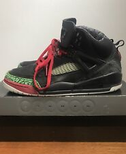 2007 Air Jordan Spizike Black Varsity Red Green Size 10.5 315371 061