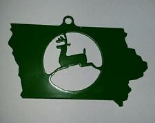 John Deere Key Chain  Leaping Deer Trademark Logo lazer cut  Iowa
