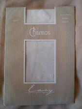 Vintage Charnos 'Easy Life' Vanilla/Off-White Mono Spots Pattern Tights - Medium