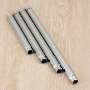 Stainless Steel Chrome Shower Head Extension Pipe Adjustable Shower Arm.