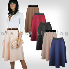 Calf Length Patternless Unbranded Skirts for Women