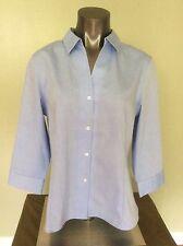 Jones New York Button Down Shirt Blue Cotton Wrinkle Free - Non Iron Sz S