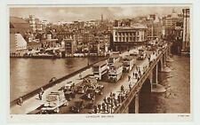 London Bridge:~1940 Est. Vintage, Glossy Sepia PPC by R.Tuck, VG+ Unused.