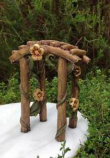 Miniature Dollhouse FAIRY GARDEN Furniture ~ Fairytale Arbor Arch ~ NEW
