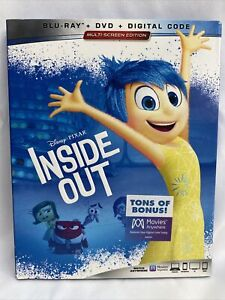 Disney's Inside Out (Blu-ray + DVD, 3 disc set + slipcover, No Digital) Like New