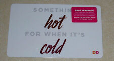 """DUNKIN DONUTS COFFEE GIFT CARD """"SOMETHING HOT FOR WHEN IT'S COLD """" HOLIDAY 2017"""