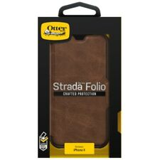 OtterBox Strada Leather Folio Wallet Case for iPhone X - Espresso