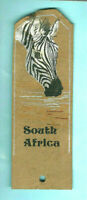 Zebra Gift Handpainted Bookmark Leather South Africa African Safari Animal Lover
