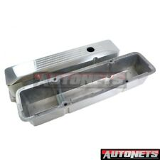Chrome cast Aluminum Small Block Chevy Valve Cover 305350327400 Smooth Tall SBC