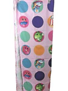 Shopkins flat twin sheet pink background polyester fabric