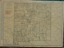 1922 LARGE AMERICA MAP ~ NEW MEXICO WITH RAILROADS CITIES LINCOLN ~ RAND MCNALLY