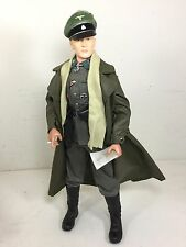 1/6 DRAGON GERMAN SS MAJOR EASTERN FRONT + LUGER MAP OVER COAT WW2 BBI DID