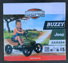 Berg Buzzy Jeep Sahara Kids Pedal Car Go Kart Green 2 - 5 Years New