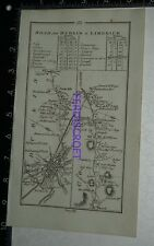1778 Taylor & Skinner Strip Map Ireland -Dublin,Trim,Gort,Ennis