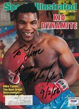 Mike Tyson Signed Sports Illustrated Magazine Autograph Auto PSA/DNA Z10651