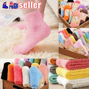 6/12pc Winter Warm Soft Fluffy Bed Socks Lounge Slipper Fleece Sock Bulk Sale AU