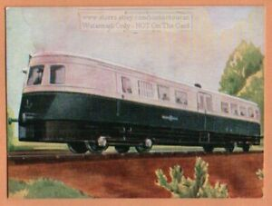Fast Diesel Powered Railroad Railway Engines 1930s Ad Trade Card