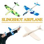 DIY Foam Glider Slingshot Airplane Model Toys for Children Boys Outdoor Game