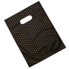 100pcs Star Patterns Printed Black Background Plastic Gift Carrier Bag Durable D