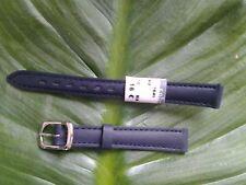BRACELET MONTRE CUIR VÉRITABLE veau // MARQUE COBRA /// marine 12mm // REF:.TV31