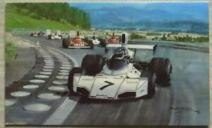 BRABHAM FORD 1974 AUSTRIAN GRAND PRIX Greetings Card Michael Turner Artwork